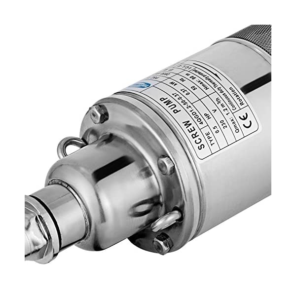 Autovictoria Bomba para Pozos 220V 370W 0.5HP Bomba de Agua Sumergible 90m 1200L / H Bomba de Pozos Profundos con el…