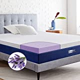 BedStory Memory Foam Mattress Topper Full Size, 3 Inch Lavender Infused Foam Mattress Topper with Removable Cover, Memory Foam Mattress Pad, Bed Topper with Ventilated Design, CertiPUR-US