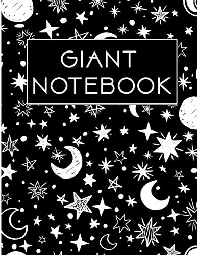 Giant Notebook: 550 Pages College Ruled - Extra Large Jumbo Journal Composition Notebook (Space Pattern Cover)