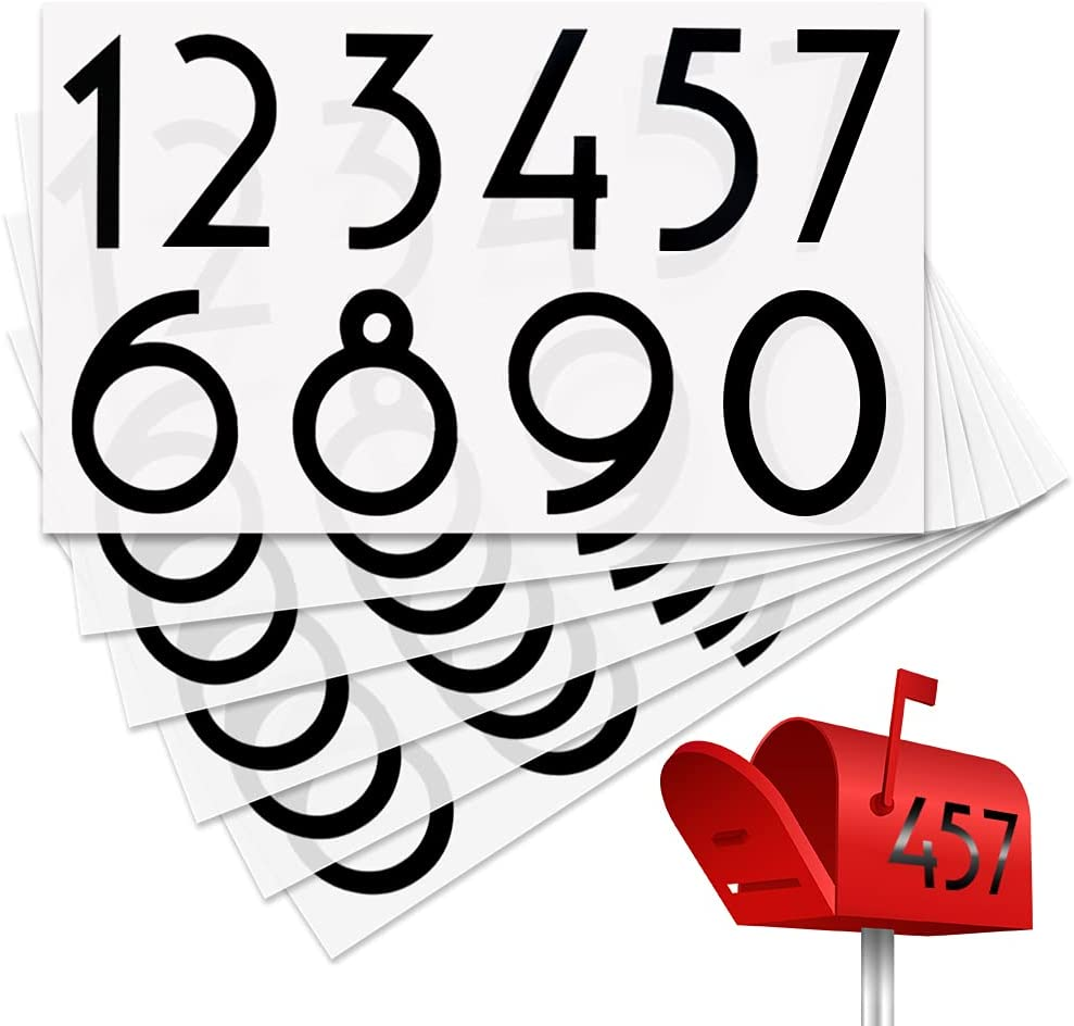 60 Pieces 2021 spring and summer new Mailbox Numbers Max 43% OFF Stickers Waterproof Adhesive 0-9 Self