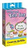 Creativity for Kids Teeny Tiny Tea Set – Paint Your Own 12 Piece Tiny Tea Set - Mini Tea Party Craft for Kids