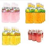 Mogu Mogu assortiment de 4 parfums x 6 x 32 cl - jus avec des morceaux de la noix de coco