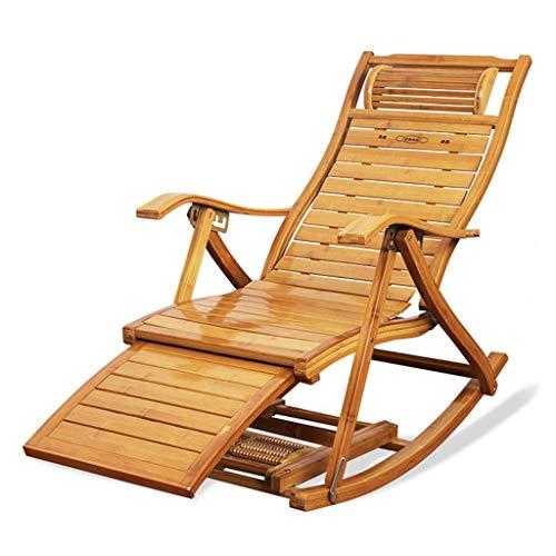 N / A Liegestuhl Campingstuh Klappstuhl, Bambus-Sonnenliegen, Rattan-Schaukelstuhl, Büro-Loungesessel, Verstellbarer SesselSchaukelstuhl(Color:style1)