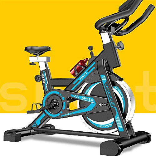 Bicicleta estática con Pedal, Bicicleta giratoria, Bicicleta estática para Interiores, Entrenamiento Cardiovascular con Volante impulsado por cinturón, Manillar Ajustable, Resistencia del Asiento, mo