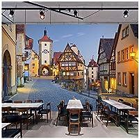 Wkxzz 壁画 壁紙 壁の装飾画カスタム3D写真の壁紙ヨーロッパ建築イタリアの町の通りの風景画壁画テクスチャ壁紙-200X140Cm