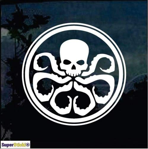 SUPERSTICKI Hydra Marvel Agents Shield Window ca.20cm Aufkleber,Autoaufkleber,Sticker,Decal,Wandtattoo, aus Hochleistungsfolie,UV&waschanlagenfest,