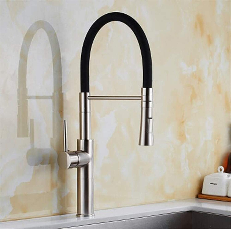 Decorry Kitchen Sink Wasserhahn Herausziehen Schwarz Nickle Bürste 360 Grad-Schwenker-Einhebelmischer