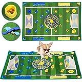 SlowTon Sniffing Carpet para Perros, Dog Sniffing Oler Entrenamiento Inteligencia Juguete Sensación de Olor Ejercicio Ejercicio Nariz Colchoneta de Trabajo Manta (100x65cm)