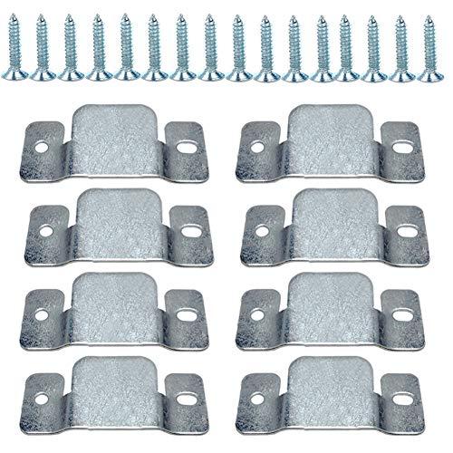 Tiberham - Soporte de montaje empotrado para sofá seccional con clip para muebles (4 pares)