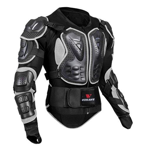 MagiDeal Complète du Corps Veste de Moto Gilet Protection - Noir, M
