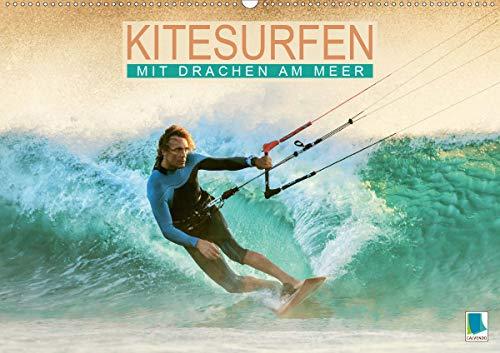Kitesurfen: Mit Drachen am Meer (Wandkalender 2021 DIN A2 quer)