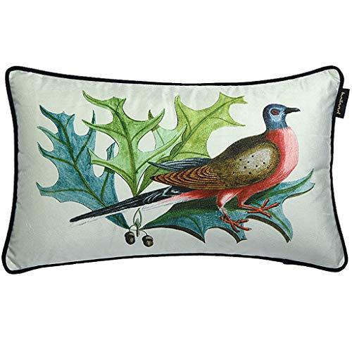 LF- Huishouden katoen comfortabel materiaal stof landelijke stijl afdrukken taille pad kussen sofa rugleuning verwijderbaar kussen ondersteuning (Color : A)
