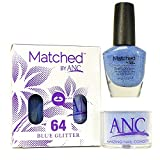 ANC Amazing Nail Concepts Matched kit # 64 Blue Glitter