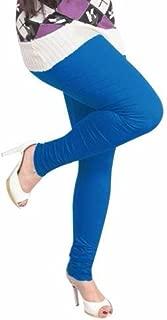 Ladyline 4-Way Stretch Cotton-Lycra Plain Leggings Churidar Long Yoga Pants