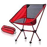 ZJING Ultra-Light Camping Plegable Silla, Silla portátil al Aire Libre, aviación Silla de Pesca de Aluminio,Red