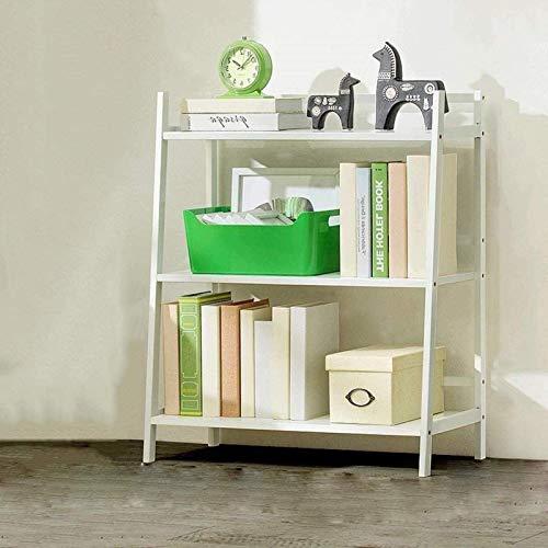 Living Equipment Estantería de madera maciza de 3 capas para libros en ángulo recto, artículos diversos, gabinete de almacenamiento, estantería, libro, álbum, soporte de exhibición (color: bla