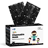 WeCare Disposable Face Masks For Kids, 50 Skull and Bones Print Masks, Individually Wrapped
