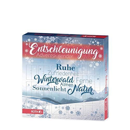 ROTH Entschleunigung-Adventskalender, gefüllt mit Wellness- und Entspannungs-Artikeln, Wohlfühl-Kalender für die Vorweihnachtszeit
