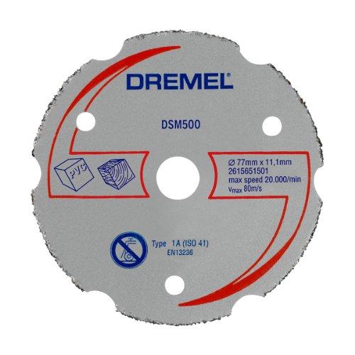 Dremel DSM500 Multifunktions Karbid-Trennscheibe, Zubehörsatz mit 1 Trennscheibe 77mm für die Kreissäge zum Sägen und Trennen von Holz und weichen Materialien