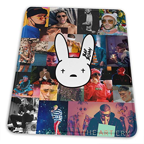 Bad Star Bunny Mouse Pad Non-Slip Large Gaming Mouse Pad for Computer Games Laptop Keyboard Wireless Mouse Office Accessories Creative Mouse Pads 10 X 12 Inch