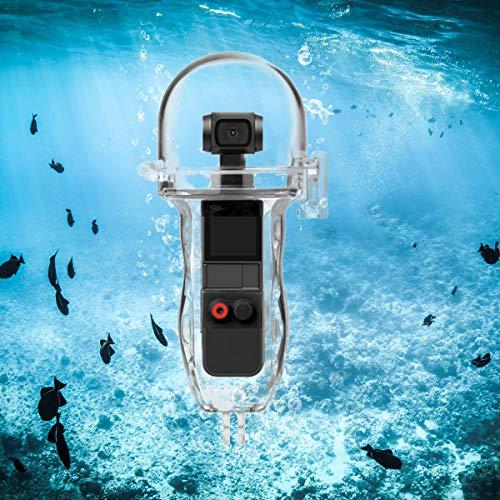 O'woda Alloggiamento Impermeabile Copertura Protettiva per Immersione con Pulsante di Controllo DJI OSMO POCKET (Trasparente)