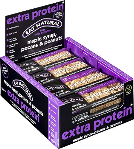 Eat Natural Maple Syrup, Pecans, Peanuts Extra Protein Bar 45 g