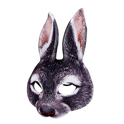 Sue-Supply Konijn Masker Pasen Bunny Gezicht Masker voor Unisex Carnaval Holiday Party Cospaly