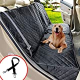 Henkelion Dog Seat Cover for Back Seat, Dog Car Seat Covers for Dogs Pets, Car Hammock for Dogs, Bench Rear Seat Cover for Dogs, Waterproof Protective Dog Seat Covers for Cars SUV Trucks - Grey
