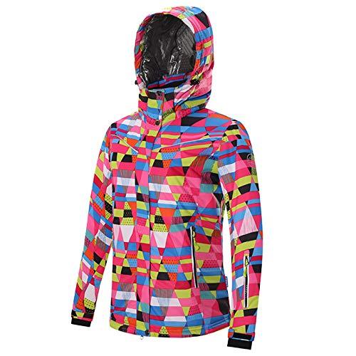 Ladies Ski Suit Utomhus skidkläder snowboard och skidkläder damer varm sportjacka Praktisk Utomhus Bergsklättring (Color : Rose red, Size : XL)