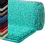 Badematte Hochflor Sky Soft | Weicher, Flauschiger Badezimmerteppich in Shaggy-Optik | Badvorleger...