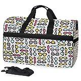Bolsa de viaje grande para el fin de semana para la noche de viaje, bolsa de gimnasio, bolsa de deporte con compartimento para zapatos