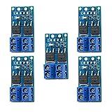 Modulo di commutazione MOSFET da 400 W ad alta potenza, 5 pezzi, DC 5 V-36 V 15 A (30 A max.), PWM, modulo driver per Arduino