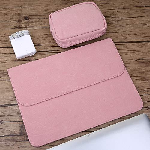 Power Bag 2 In 1 Laptop Inner Bag Power Bag, Horizontal Matte Leather For Macbook Air/Pro Retina Jianmeili (Color : Pink)