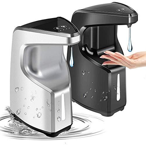 2 pack Hand Sanitizer Dispenser, Touchless Soap Dispenser, Automatic Soap Dispenser, Contactless Liquid Soap Dispenser for Kitchen Bathroom Office, Adjustable Soap Volume, Wall Mount/ Countertop15.2oz