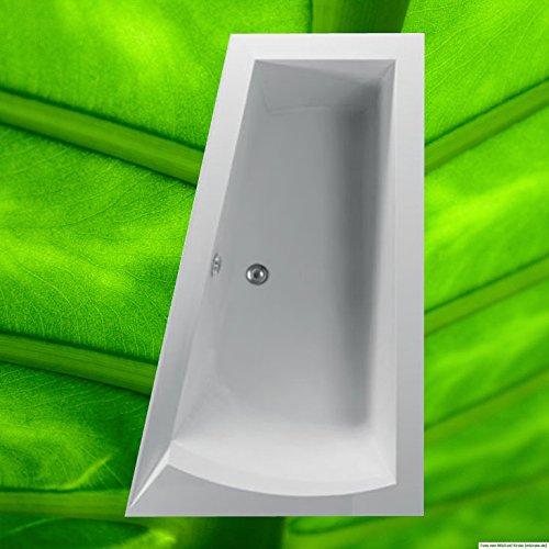 Badewanne NERA RECHTS 170x100 - 100x170 Acryl Trapezwanne Raumsparwanne tiefe Badewanne groß