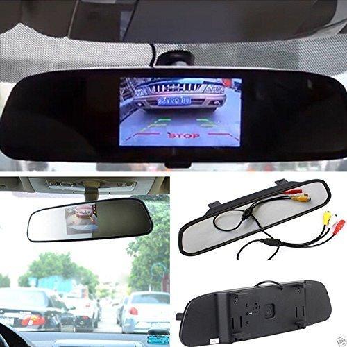 "E-best4.3 Inch TFT Car Auto LCD Screen Rear Monitor View Rearview DVD Av Mirror; High Resolution 4.3"" Color TFT LCD Car Rearview Mirror Monitor 4.3 Inch 16:9 Screen"