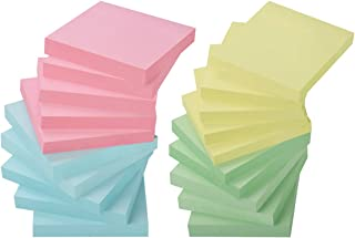 ZCZN 4 Color Sticky Notes 3 in x 3 in, 20 Pads/Pack 100 Sheets/Pad Self-Sticky Notes (20 Pads)