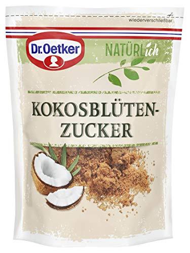 Dr. Oetker Natürlich Kokosblütenzucker 200 g – der aus dem Saft der Kokosnussblüten gewonnene braune Zucker ist vielseitig einsetzbar und verleiht Speisen einen malzig-karamelligen Geschmack, 1er Pack