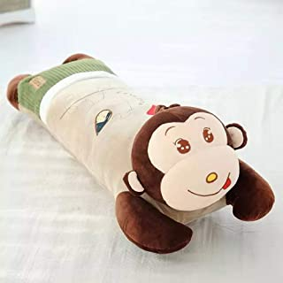 43inch) okdeals Soft Cartoon Animal Monkey Long Pillow for Kids Sleeping Cylindrical Long Animal Pillow Plush Toy Kids Girl Birthday GIF(Red