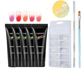 Gel Set Nail Kit Anself Gel de construcción rápida 5 colores Cambio de color térmico Herramientas de manicura Moldes de u...