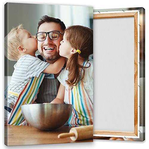Ihr Foto auf Leinwand 40x60 cm Hochformat. Echtholz-Keilrahmen. Ihr eigenes Bild auf Leinwand mit Keilrahmen - Wandbild mitWunschmotiv - Personalisiertes Kunstdruck