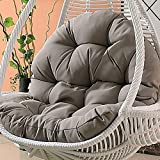 MSM Furniture Waterproof Hanging Cushion, Swing Chair Wicker Hammock Weave Egg Pad, Balcony Patio Garden-neither Stand Nor Chair Are Include-gray 120x86cm(47x34inch)