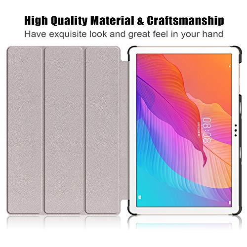 XITODA Hülle Kompatibel mit Huawei MatePad T10 AGR-L09 AGR-W09 9.7''/MatePad T10S AGS3-L09 AGS3-W09 10.1'',PU Leder Stand Schutzhülle für Huawei MatePad T 10/ T 10S Case Cover,roségold