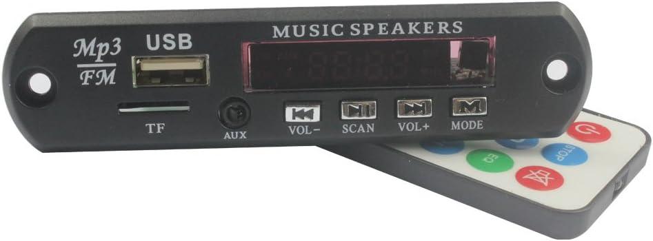 Bluetooth v3.0 + EDR Audio Module MP3 WMA Player MP3 decoder with Board Module w/TF Card Slot/USB 3.0 Port/FM/Remote Display - Black (12V)