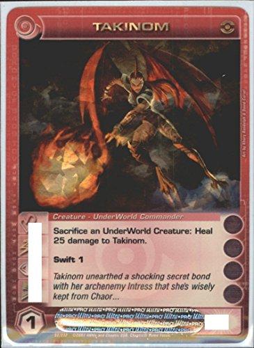 Chaotic TAKINOM Super Rare Foil Card Random Stats Dawn of Perim