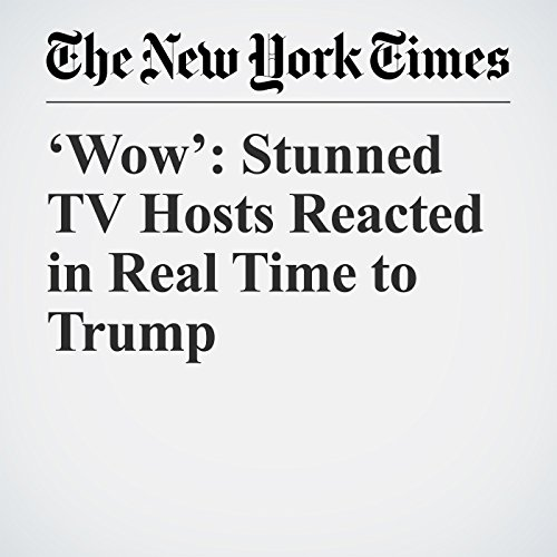 'Wow': Stunned TV Hosts Reacted in Real Time to Trump copertina