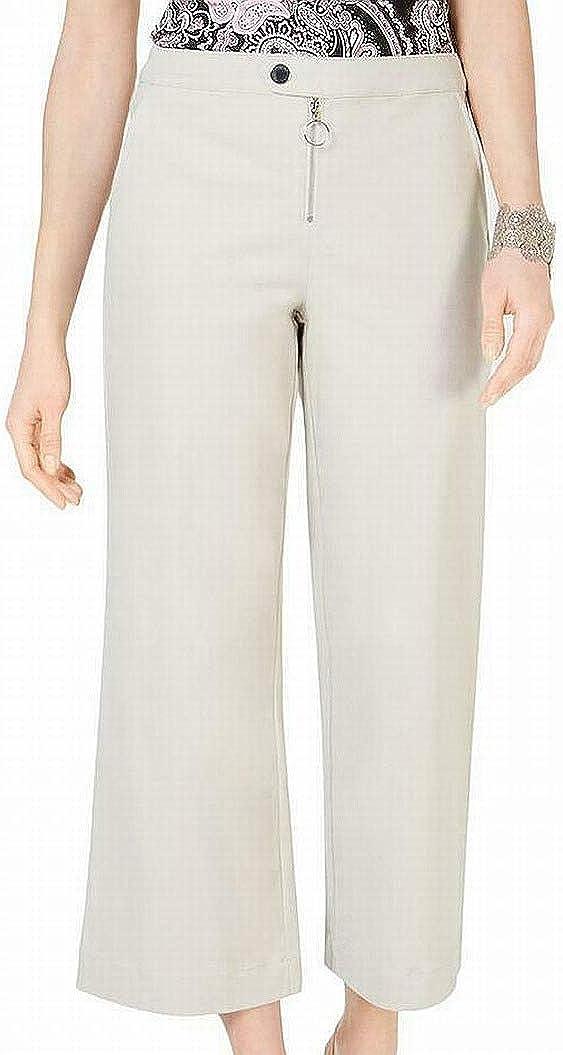 I.N.C. International Concepts INC Womens Beige Wide Leg Wear to Work Pants Size 18