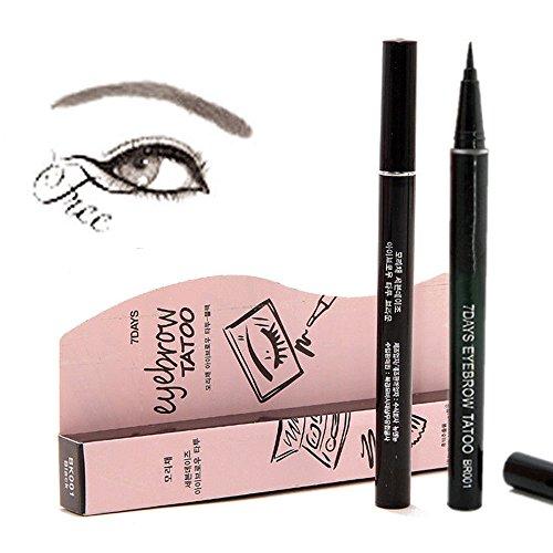7 Tage Augenbrauenstift/Brauenstifte, Automatisch Wasserdicht EyeBrow Pencil, Long Lasting Augenbraue Stift(Dunkelbraun)