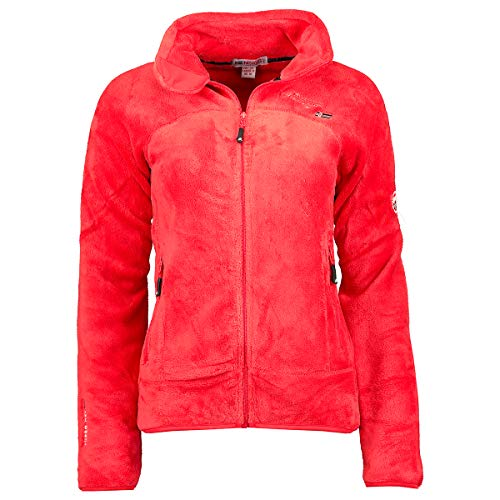 Geographical Norway UPALINE LADY - Suave Cálido Mujeres - Chaqueta Calida Invierno Suave Mujeres Caliente - Pullover Casual Tops Mangas Largas - Manga Larga Perfecto Suéter Piel ROJO L