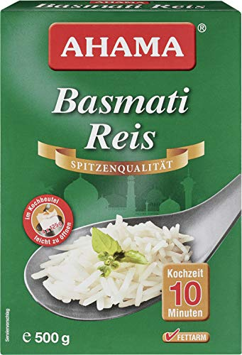 AHAMA Basmati Reis duftender loser aromatischer Basmati Reis 500g